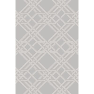 Helen Hand-Loomed Gray Area Rug Rug Size: Rectangle 9 x 13