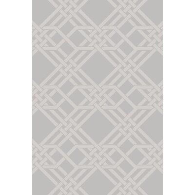 Helen Hand-Loomed Gray Area Rug Rug Size: 9 x 13