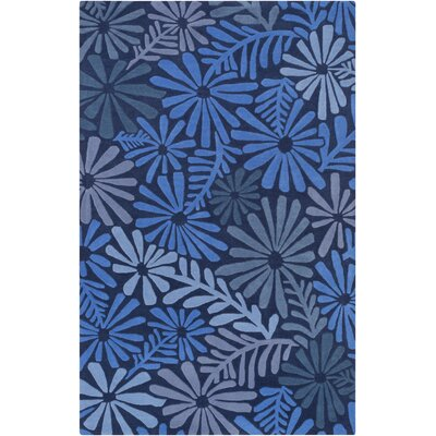 Ophiuchi Hand Tufted Wool Blue Area Rug Rug Size: Rectangle 33 x 53