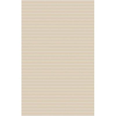 Vargo Hand-Woven Beige Area Rug Rug Size: 8 x 11