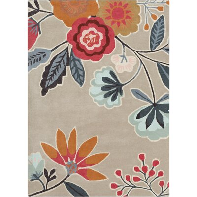 Cayer Hand-Tufted Beige Area Rug Rug Size: 5 x 8