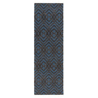Varley Hand-Woven Blue Area Rug Rug Size: Runner 26 x 8