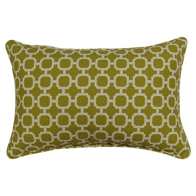 Tessa Corded Lumbar Pillow Color: Pear