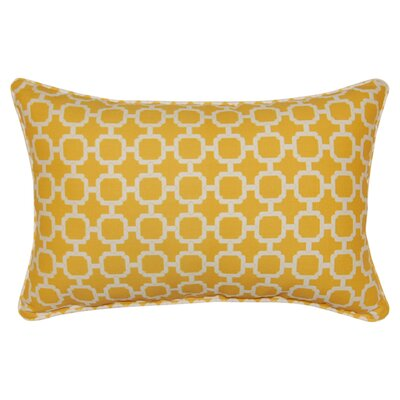 Tessa Corded Lumbar Pillow Color: Banana