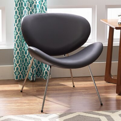 Lounge Chair Upholstery: Black