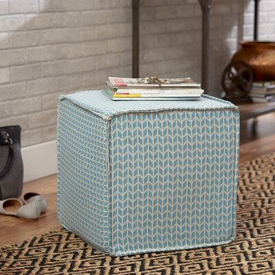 Arris Pouf Square Ottoman Upholstery: Chambray