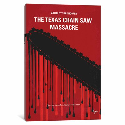 The Texas Chain Saw Massacre Minimal Movie Poster Wall Art on Wrapped Canvas Size: 40