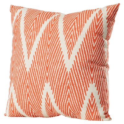 Oliver 100% Cotton Throw Pillow Size: 16.5 H x 16.5 W x 5 D, Color: Mandarin