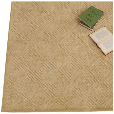Eugenia Cream/Citrine Area Rug Rug Size: 53 x 76