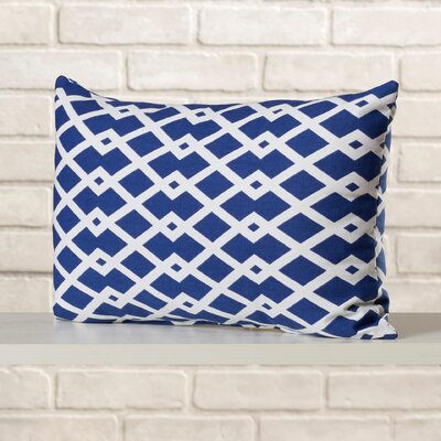Ringgold Cotton Lumbar Pillow Color: Ultramarine