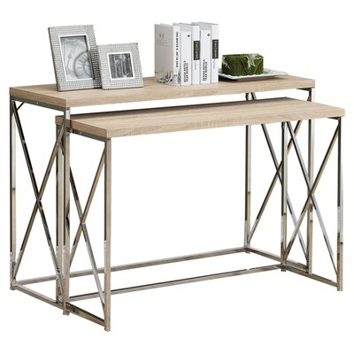 Balog 2 Piece Console Table Set Finish: Natural