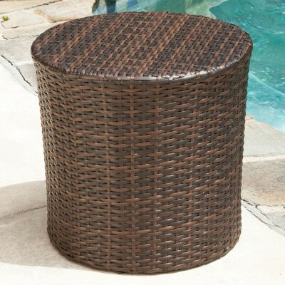 Mazzella Bluestar Barrel Side Table Finish: Brown