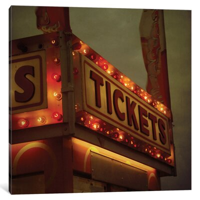 Tickets Photographic Print on Wrapped Canvas Size: 26