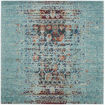 Artemis Blue Area Rug Rug Size: Square 5