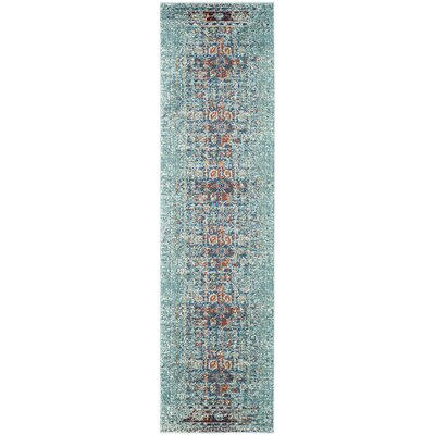 Artemis Blue Area Rug Rug Size: Runner 22 x 18