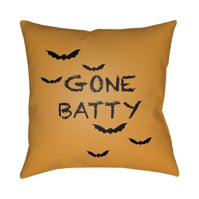 Ilaria Indoor/Outdoor Throw Pillow Color: Orange, Black, Size: 20 H x 20 W x 4 D