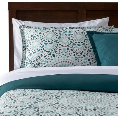 Selena Comforter Set Color: Teal, Size: Full / Queen