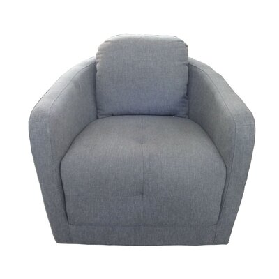 Aveza Swivel Barrel Chair Upholstery: Gray