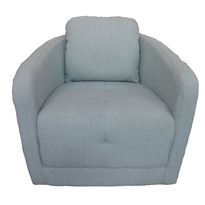 Aveza Swivel Barrel Chair Upholstery: Light Blue