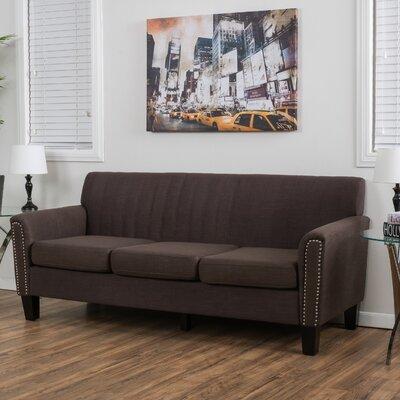 Chaoyichi Fabric Sofa Upholstery: Chocolate Brown