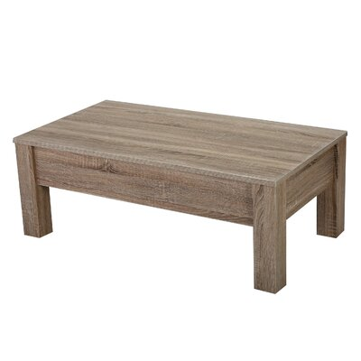 Boustrophedon Coffee Table with Lift Top Color: Dark Sonoma