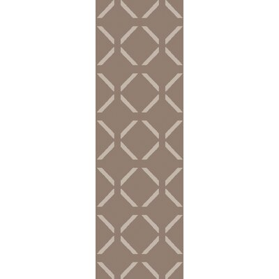 Varnado Hand-Woven Brown Area Rug Rug Size: Runner 26 x 8