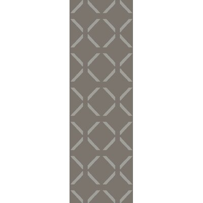 Varnado Hand-Woven Dark Brown Area Rug Rug Size: Runner 26 x 8