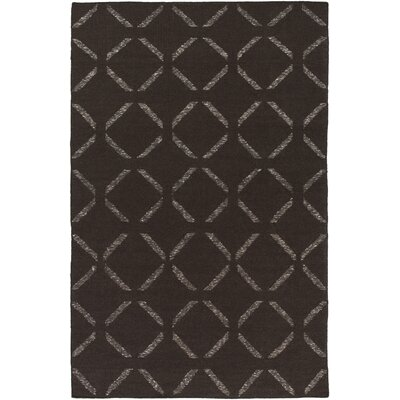 Hand-Woven Chocolate Area Rug Rug Size: Rectangle 5 x 76
