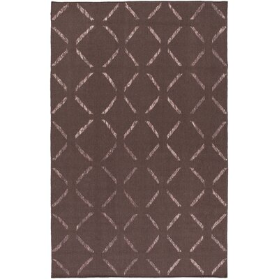 Varnado Hand-Woven Dark Taupe Area Rug Rug Size: Rectangle 4 x 6
