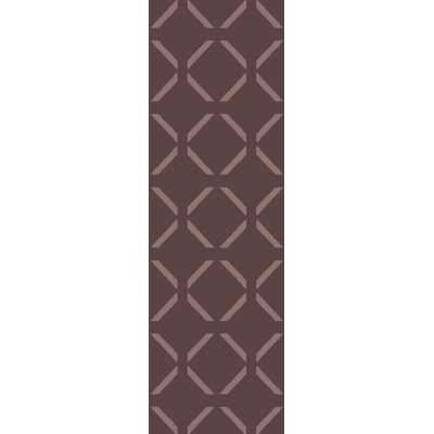 Varnado Hand-Woven Dark Taupe Area Rug Rug Size: Runner 26 x 8