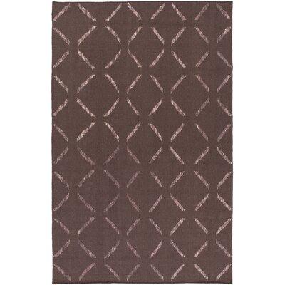 Varnado Hand-Woven Dark Taupe Area Rug Rug Size: 4 x 6