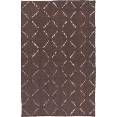 Varnado Hand-Woven Dark Taupe Area Rug Rug Size: 6 x 9