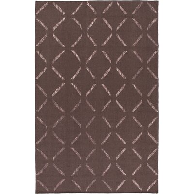 Hand-Woven Dark Taupe Area Rug Rug Size: 8 x 10