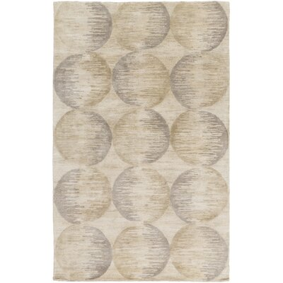 Democritus Hand-Tufted Taupe/Gray Area Rug Rug Size: 33 x 53