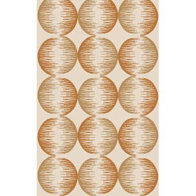 Demosthenes Hand-Tufted Tan/Rust Area Rug Rug Size: Rectangle 5 x 8