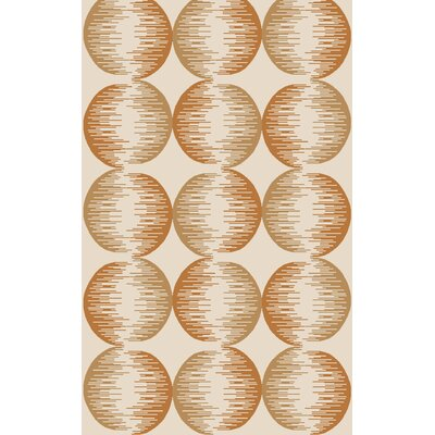 Demosthenes Hand-Tufted Tan/Rust Area Rug Rug Size: 33 x 53