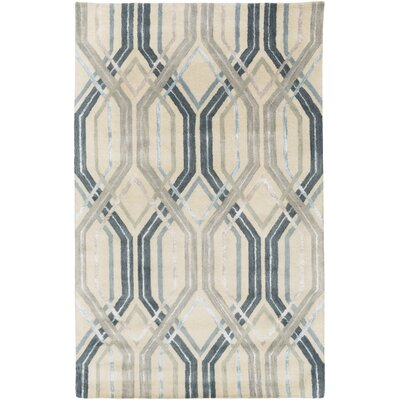 Dewit Hand-Tufted Charcoal/Slate Area Rug Rug Size: 5 x 8