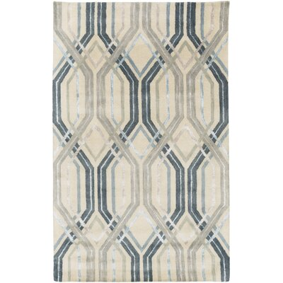Dewit Hand-Tufted Charcoal/Slate Area Rug Rug Size: 8 x 11