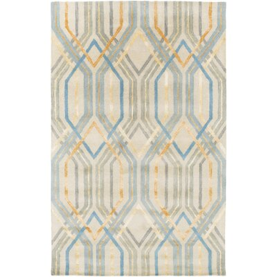 Clariandra Aqua/Slate Area Rug Rug Size: Rectangle 5 x 8
