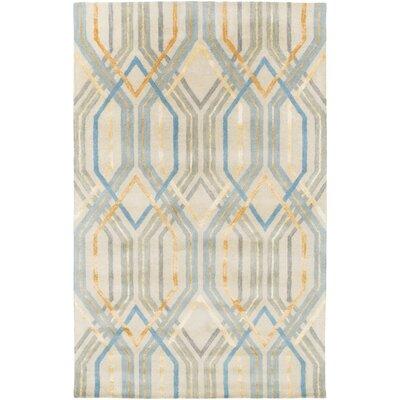 Clariandra Aqua/Slate Area Rug Rug Size: 33 x 53