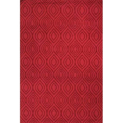Mizel Handmade Red Area Rug Rug Size: Rectangle 76 x 96