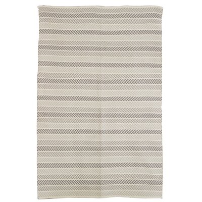 Altair 3 Piece Hand Woven Cotton Gray Area Rug Rug Size: 8 x 10