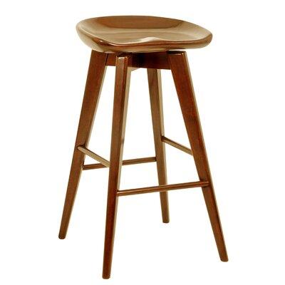 Venus 29 Swivel Bar Stool Finish: Walnut
