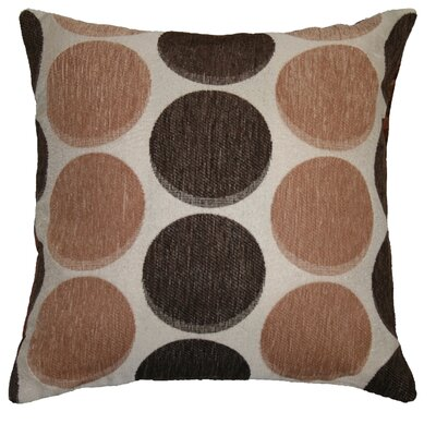 Frank Circles Decorative Pillow Cover Color: Gold / Brown