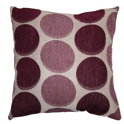 Frank Circles Decorative Pillow Cover Color: Lilac