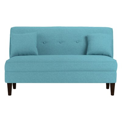 Perseus Loveseat Upholstery: Turquoise Blue Linen