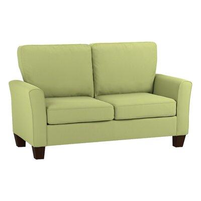 Asberry Compact Sofa Upholstery Color: Spring Green Velvet