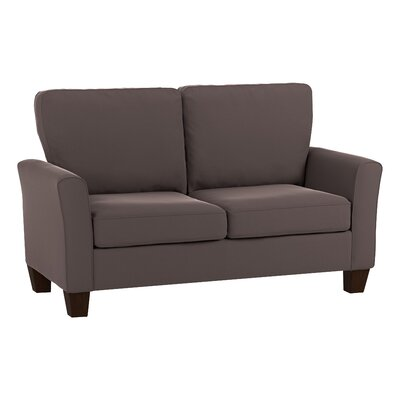 Asberry Compact Sofa Upholstery Color: Brown Velvet