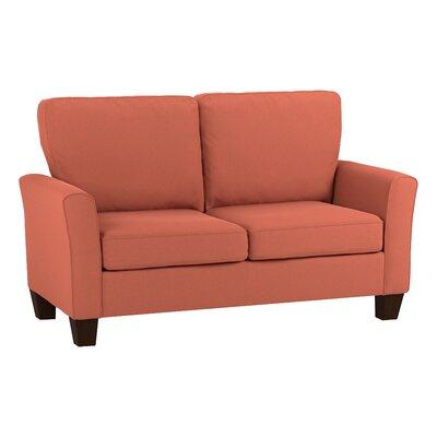 Asberry Compact Sofa Upholstery Color: Orange Velvet