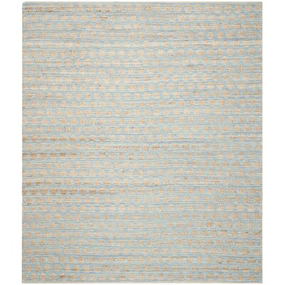 Pluto Hand-Woven Blue/Natural Area Rug Rug Size: 6 x 9